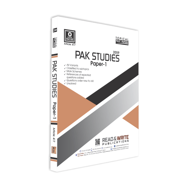 past PapersPakistan Studies O Level Paper-1 Topical Unsolved