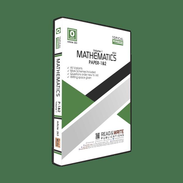 Math O Level Volume 1 paper 1 & 2 Topical workbook