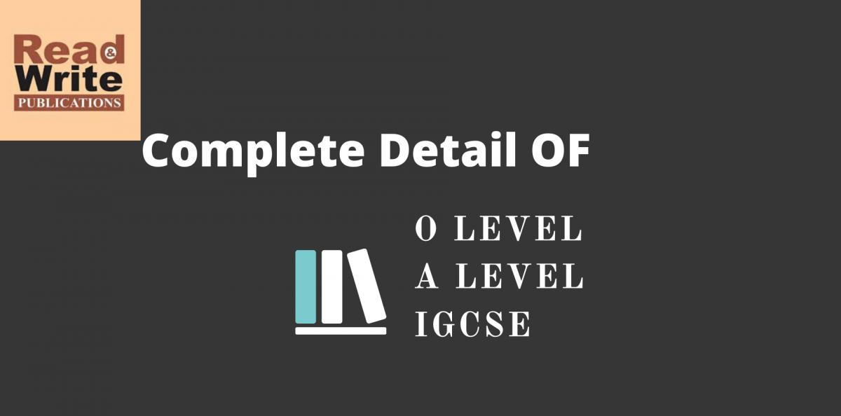 O Level A Level IGCSE