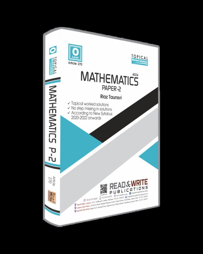 Math O Level Paper